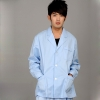 men long sleeve light blue coat